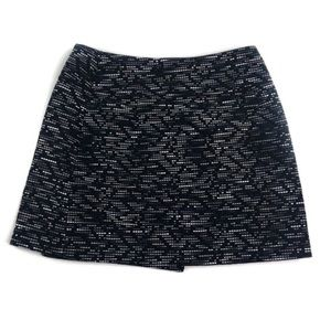 H&M Embroidered Textured Mini Skirt